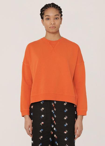 YMC Almost Grown Cotton Loopback Sweatshirt - Orange