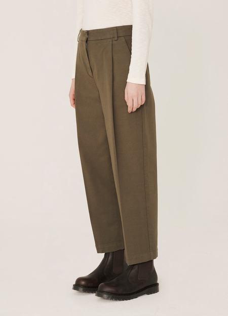 YMC Market Aquila Twill Trousers - Olive