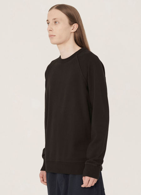 YMC Schrank Cotton Raglan Loopback Sweatshirt - Black