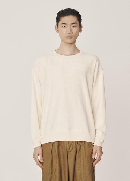 YMC Fauss Organic Cotton Towelling Sweatshirt - Ecru