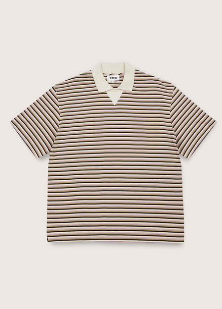 YMC Frat Organic Cotton Jersey Stripe T-Shirt - Multi