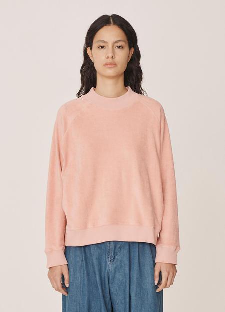 YMC Touche Organic Cotton Towelling Sweatshirt - Pink