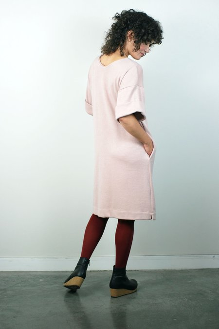 BODYBAG by Jude Willow Knit Boxy Dress - Dusty Pink