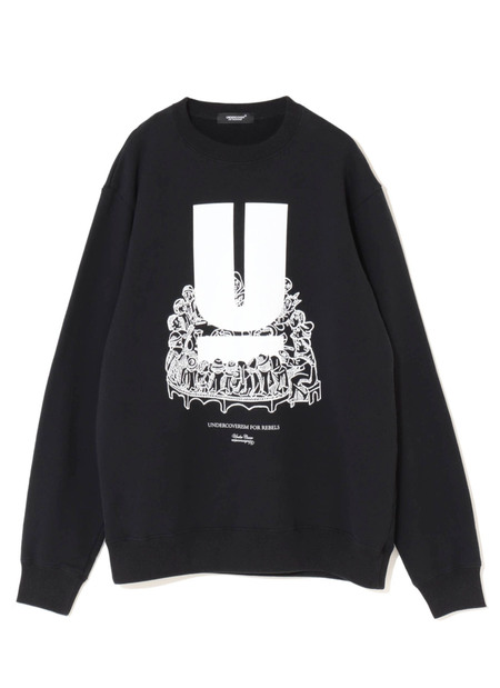 UNDERCOVER UNDERCOVERISM FOR REBELS CREW NECK SWEAT SHIRT - BLACK