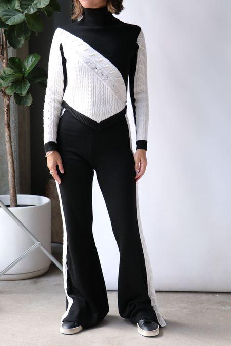 Victor Glemaud Turtleneck Sweater - black/white
