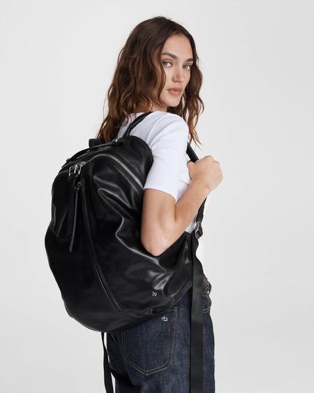 unisex Rag & Bone Commuter Backpack - Black Leather