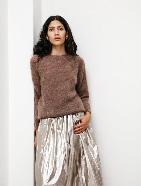 Neighbour Kid Mohair Sweater - Taupe