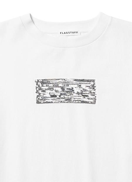 FLAGSTUFF x KOSUKE KAWAMURA 2 Doller Bill COLLAGE T-Shirt - WHITE