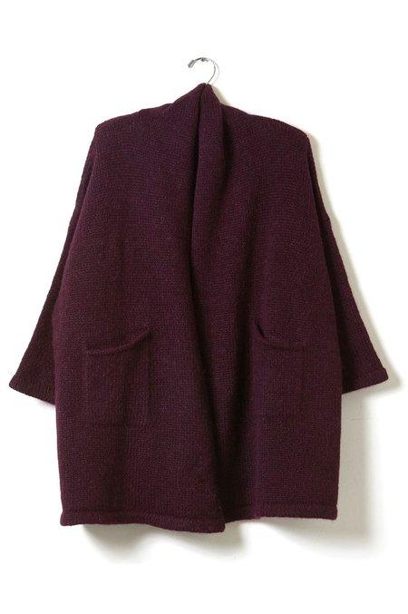 Atelier Delphine Haori Coat - Mulberry/Alpaca