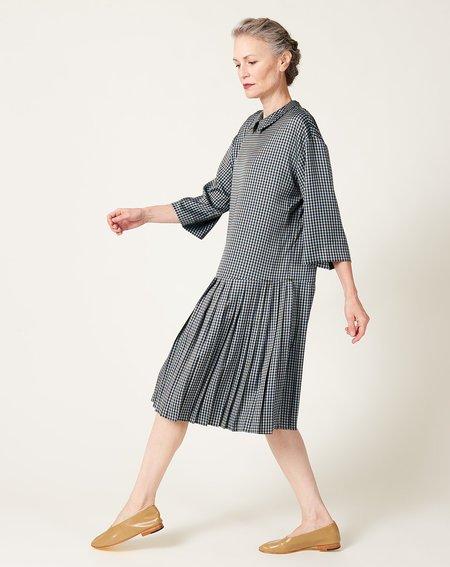 No.6 Corin Dress - Azure Mini Check