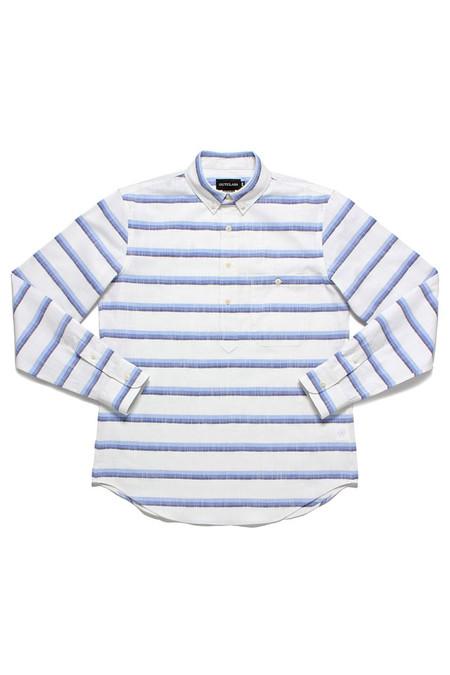 Outclass Ombre Popover Shirt | White Blue
