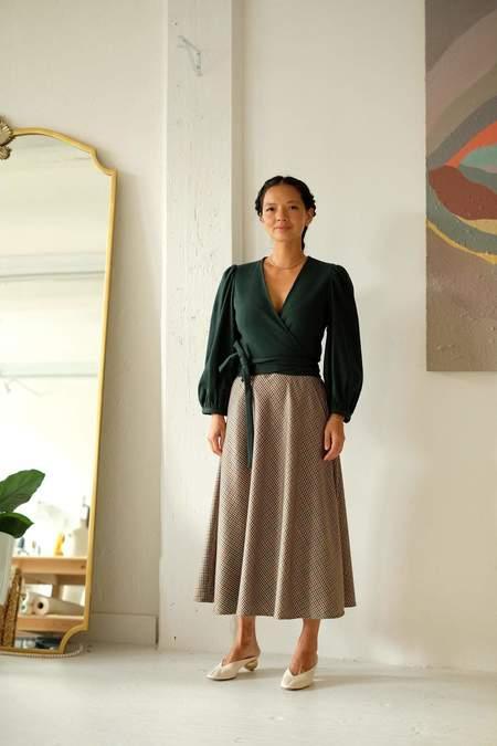 Christine Alcalay Christine Wool Skirt - Multi Plaid