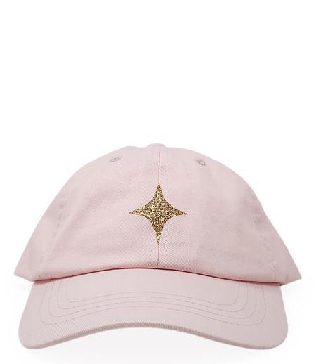 MADISON MAISON PASTEL PINK BASEBALL CAP WITH GLITTER STAR