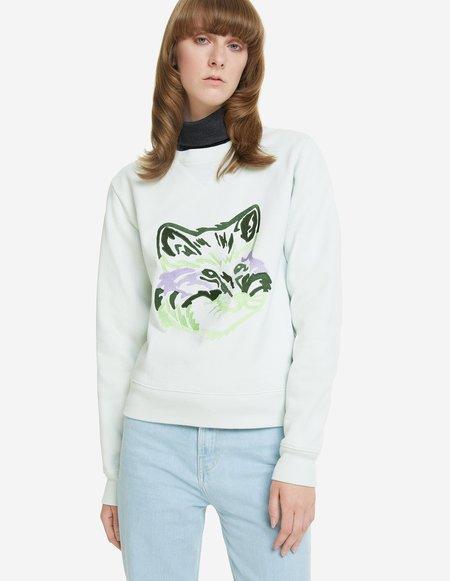 Big Fox Embroidery Sweatshirt - Mint