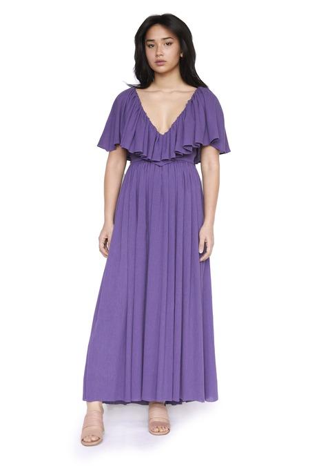 Christine Alcalay Cotton Crepe Hong Nhung Dress - Amethyst