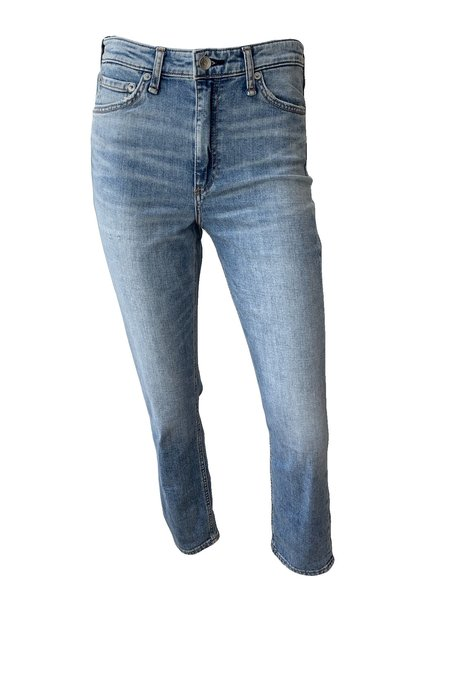 Rag & Bone Nina High Rise Ankle Cigarette Jean - BLUE