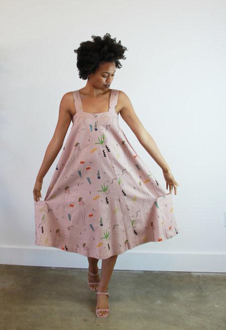 Selva Negra Georgia Dress  Rose Print