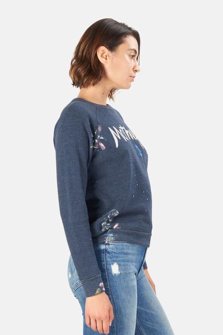 Mother Denim  The Hugger Sweatshirt Sweater - Navy