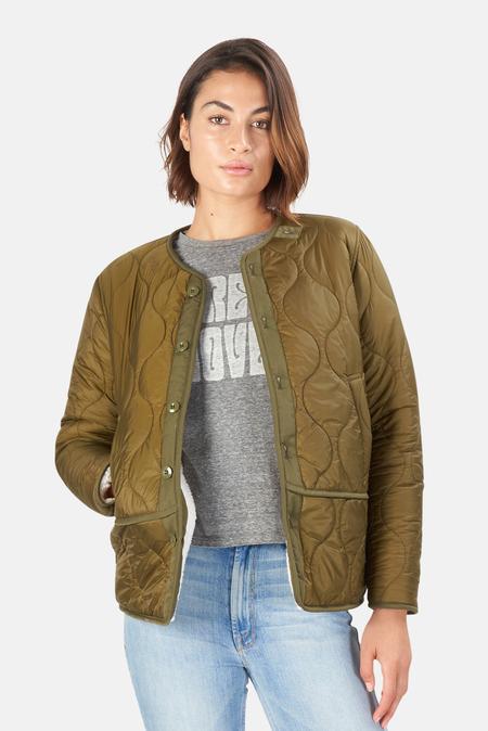 Mother Denim The Jacket-Lining Jacket - Green