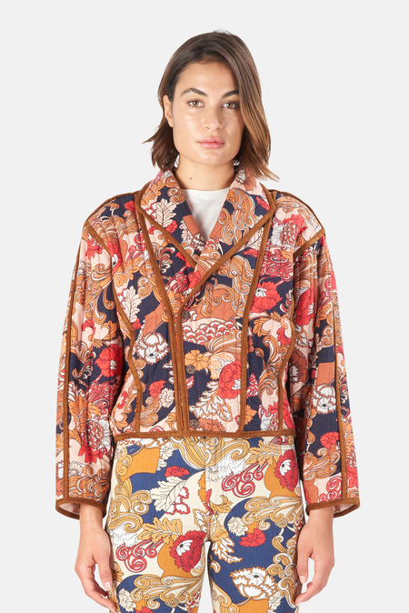 Mother Denim  Big Time Bound Jacket - Flowers In Her Hair