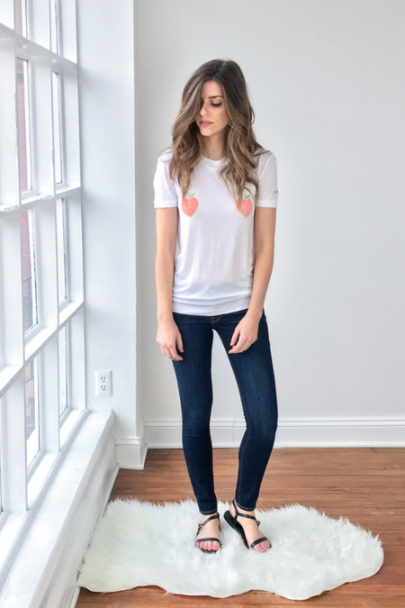 Ganni Linfield Lyocell Peaches Tee