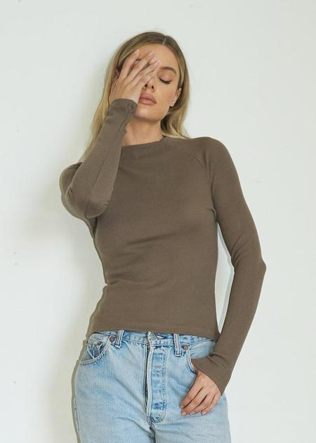 LNA Lyndell Thermal Long Sleeve - Taupe