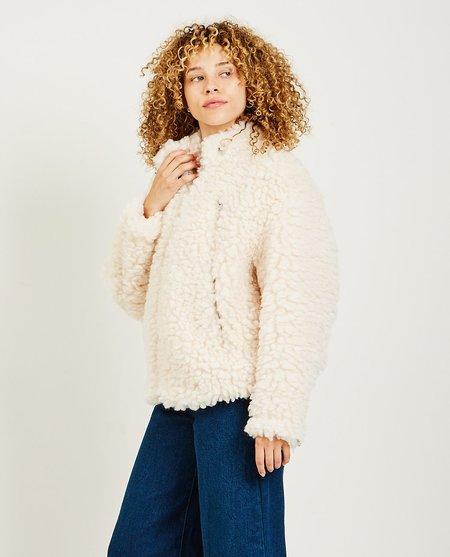 Maison Margiela Faux Sheepskin Jacket - Off White