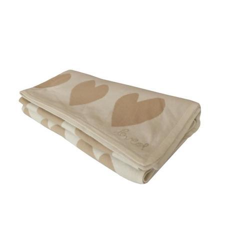 Kerri Rosenthal Imperfect Love Cashmere Blanket - Beige/White