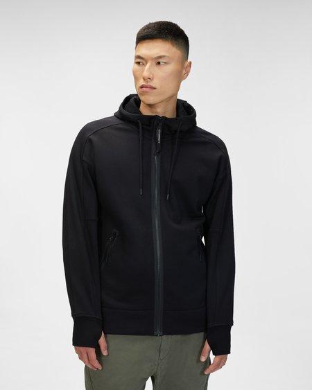 CP company Diagonal Raised Fleece Goggle Hoodie - Black