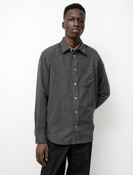 Norse Projects Algot Light Wool Shirt - Charcoal Melange