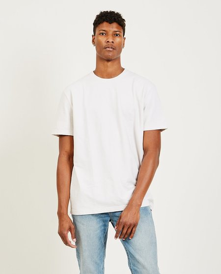 TOMORROW'S LAUNDRY Classic Essential French Terry Tee - Washed Pink