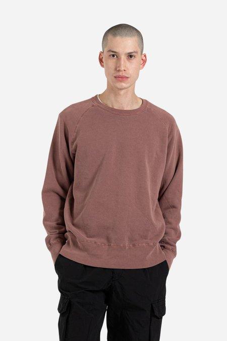 Velva Sheen 8 oz Pigment  Freedom Crewneck Sweatshirt - Cocoa Brown
