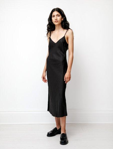 Organic by John Patrick Bias Long Slip Dress - Black
