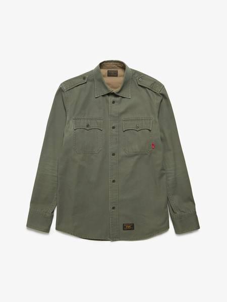 [Pre-Loved]  Wtaps M Khaki Cotton Overshirt