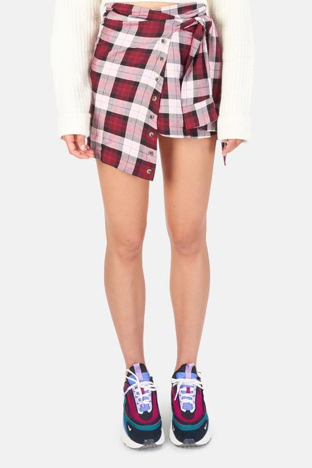 Women's For Love & Lemons Gwen Wrap Skirt - Red