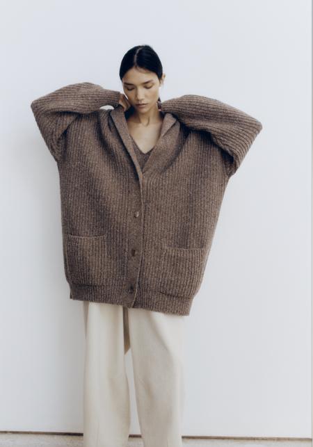 Monica Cordera Soft Wool Coat - Deep Taupe