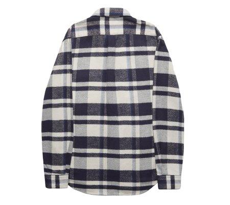 Portuguese Flannel Bonefire Flannel Shirt - Navy
