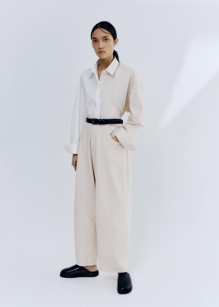Mónica Cordera Bicolor Shirt - White/Beige