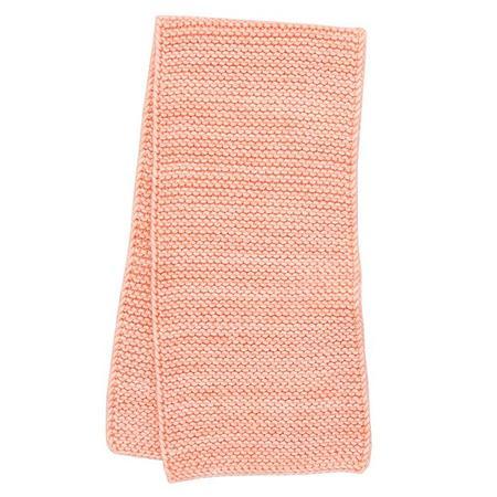Kids Misha & Puff Garter Stitch Scarf - Grapefruit Pink