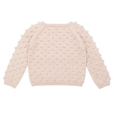Kids Misha & Puff Popcorn Sweater - Dune Pink