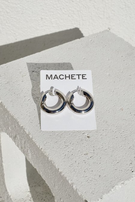 Machete Chunky Hoops - Silver
