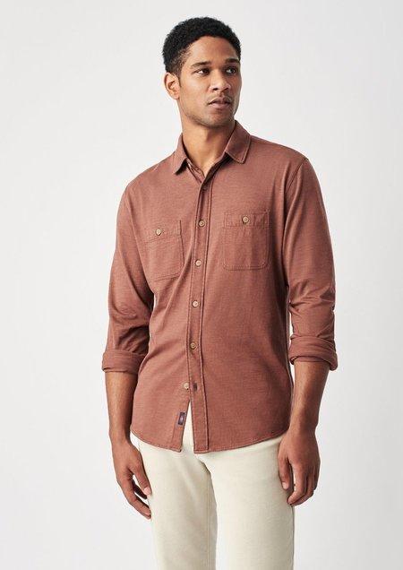 Faherty Knit Seasons L/S Shirt - Oxblood