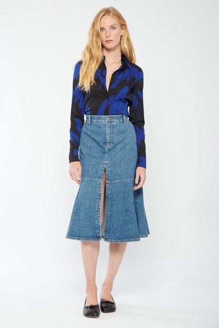 STELLA MCCARTNEY Daria Shirt - Black/Blue
