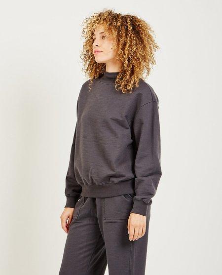 AG Jeans Nova Mock Neck Sweatshirt - Charcoal