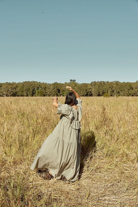 Little Tienda Meadow Maribel Dress - Sage