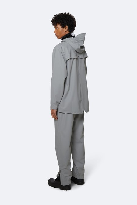Rains Short Hooded Popper Jacket - Grey
