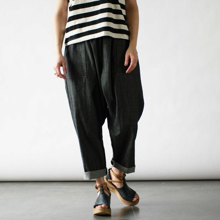Rebe Barney Pants in Charcoal Chambray