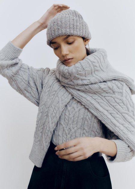 Mónica Cordera Soft Wool Beanie - Grey