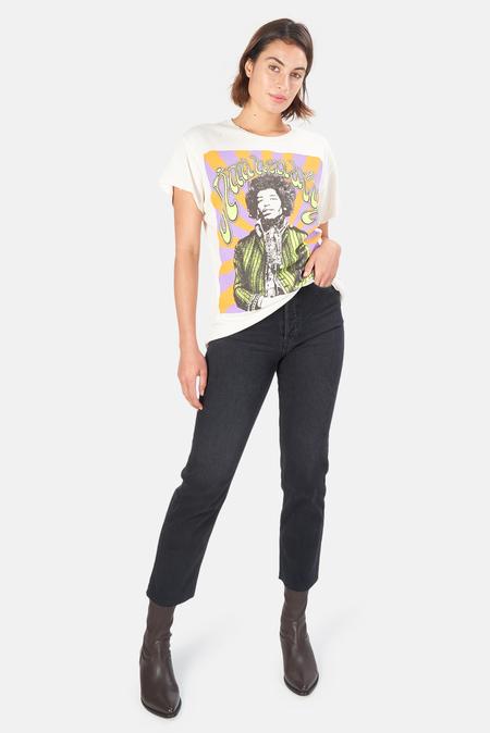 MadeWorn Rock Jimi Hendrix Psychedelic T-Shirt - Off White