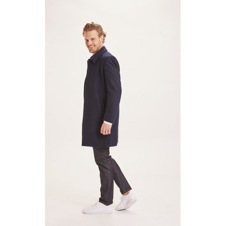 knowledge cotton apparel Beech wool carcoat jacket - navy
